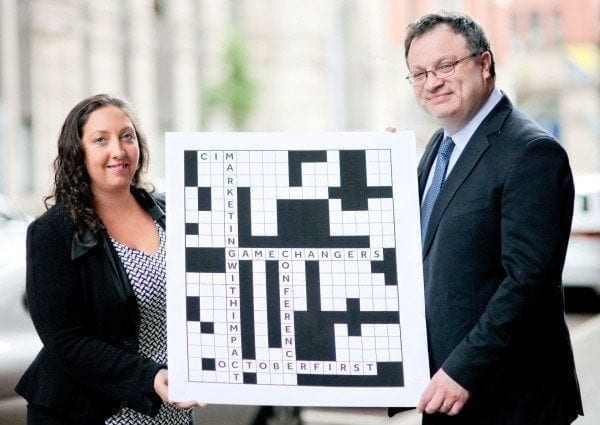 Minister for Employment and Learning, Dr Stephen Farry and the Chair of the Ireland Board of the Chartered Institute of Marketing, Christine Watson