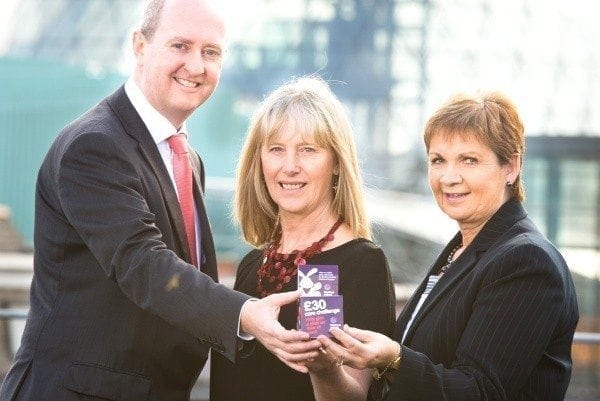Michael Jennings, BDO Partner, Ellen Hillen, Corporate Fundraising Manager NI Hospice and Carol Malcolmson, BDO Partner. Picture: Elaine Hill