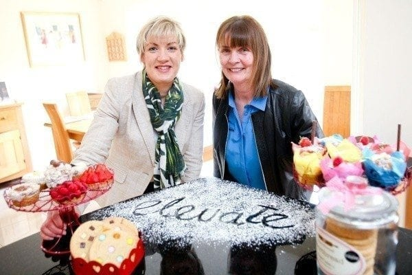 A taste of success: Margaret Hearty, director of programmes and business services for InterTradeIreland joins Newtownabbey business woman, Anna Taggart, owner of Yummy Bakes NI, who credits the Elevate programme, which is fully funded by InterTradeIreland, with helping to open up the Irish market for her high-quality pastry and biscuit ranges.
