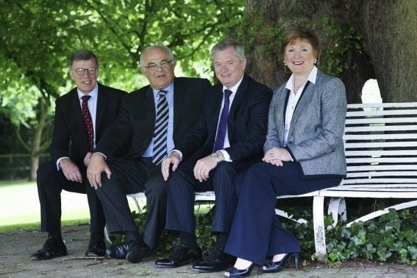 Left to Right John Mooney, Felix Mooney, Eugene McKeever MBE and Catherine McKeever.