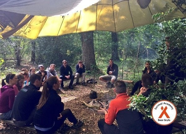 bear-grylls-survival-academy-at-belle-isle-group-discussion-outside3