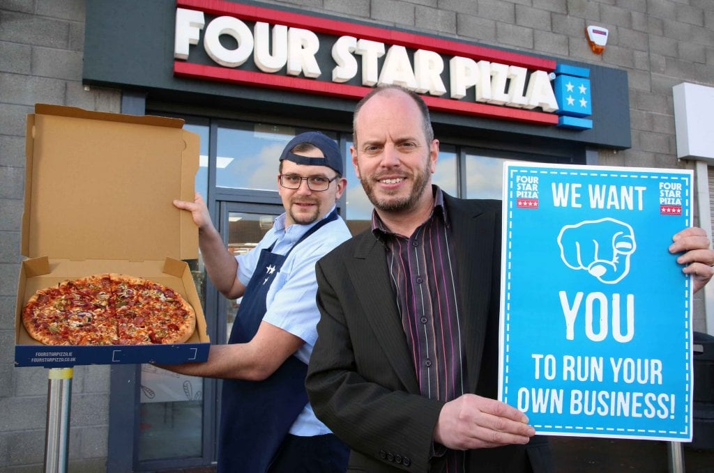 So you want to run your own pizza store? Four Star Pizza has produced a FAQ for anyone interested in running their own pizza business. What do I need to have to apply for a franchise? You'll need three things: • Catering/restaurant/business management experience and plenty of passion and enthusiasm • Evidence of funds (including capital investment and/or bank funding). Four Star Pizza's experienced management team are happy to help suitable candidates put together a business plan to strengthen funding applications. • Your full CV How much does it cost? A lot less than you'd think. The start-up investment is low but so are running costs thanks to bulk buying discounts, we can also help with financing. We have templates for standard floorplans, kitchen equipment, EPOS and seating areas. There's also an on-going annual royalty of 5.5% of store net sales to cover menu development, etc. How much will I earn? Your profit and loss will depend on a number of things, such as your territory, the amount of time you spend on the job, how good a business person you are and market conditions. Like any business venture, there is no guarantee of success and profitability but we will help to minimise your risk by giving you the benefit of a proven business model. BUT, remember, well-run Four Star Pizza stores are always profitable. What help will you give me in opening my franchise? You'll receive an initial training period plus an operations specialist will support you in your first week of business. You'll have your own independent business but we'll be right behind you with all the advice, support and help that you need, from bulk buying discounts to advertising, store location to food preparation. What on-going help will I receive? We'll give you a Four Star Pizza operations manual that will cover the important facets of your operation. You'll receive ongoing updates for this and regular company notes with useful management information. There's also a continuous advisory service on all promotional, operational and business problems, as well as field and technical assistance. Our management information system provides invaluable reports that help you to control food and labour costs, employee scheduling, hourly sales, customer orders and marketing information. Our EPOS system is integrated with our mobile app and desktop site for online ordering and secure credit card payment. How long is the agreement? 10 years after which you can renew for additional 10 years. Is my delivery territory protected? Yes. Where do I buy my ingredients and supplies? From our approved suppliers only, for quality and cost control. Will you help with marketing? Yes. Each Four Star Pizza store contributes 3% of its store sales to Four Star Pizza which will go towards advertising, PR and promotional programmes. This money is used to provide PR support and develop and place advertisements in the Four Star Pizza franchisee's market as a group. We'll also encourage you to undertake local advertising too. Can I sell my franchise? Of course – it's your business – but there will be a transfer fee for administrative, legal and training expenses. How long will it take to get up and running? As quickly as four weeks from signing the franchise agreement, depending on how quickly we can obtain certification and approvals. Could it really be that easy? Yes. Yes, it could. Let's get cooking! Ok what do I do now? Simple. Give us a call on 00 353 1 7037300 or send an introductory email to info@fourstarpizza.ie – then we'll take it from there! For further information on Four Star Pizza, visit www.fourstarpizza.co.uk.