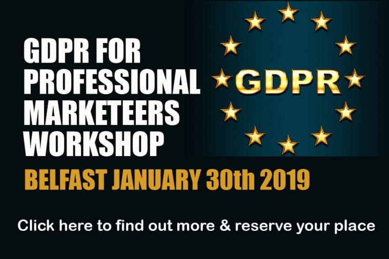 GDPR Marketing January 2019