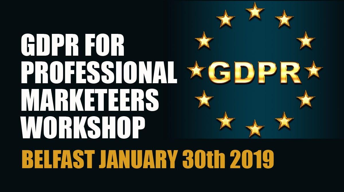 GDPR Marketing January 2019