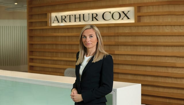 Lynsey Mallon, a Corporate and Commercial Partner at leading law firm Arthur Cox
