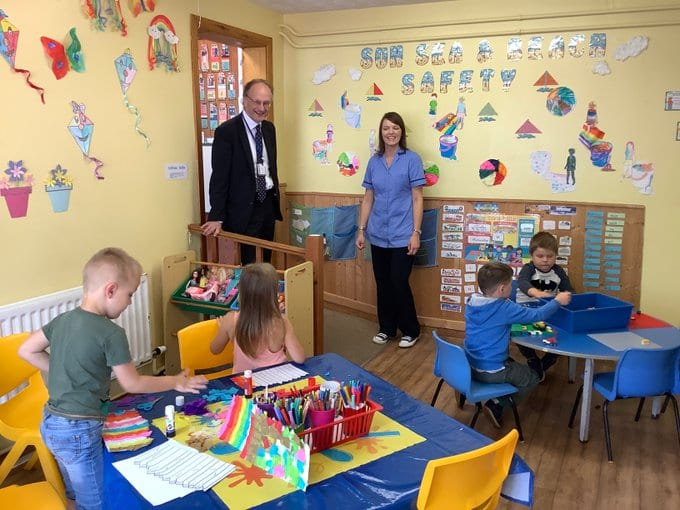 Minister weir at childcare setting