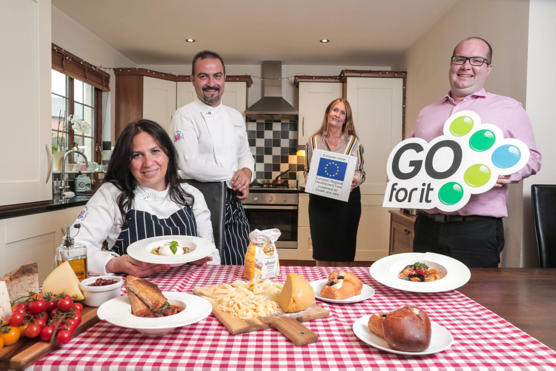 Two locally based entrepreneurs have used their expert cooking skills to pursue their own joint business venture in Belfast - Delizia Italian Food – thanks to support from the Go For It Programme, in association with Belfast City Council.