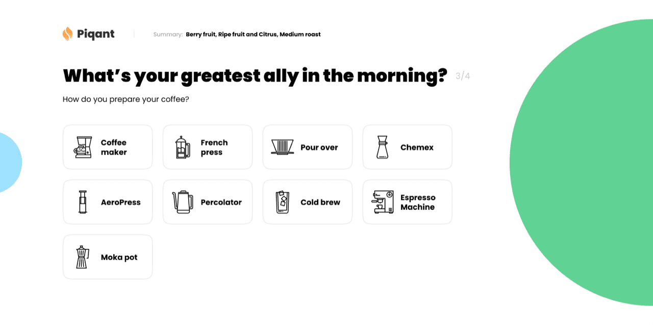 Piqant, is the new online destination for ethically-sourced coffee and have recently unveiled an innovative new tool to help people pick their perfect brew.